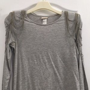 H&M Fitted Tee Dress with Shoulder Detail